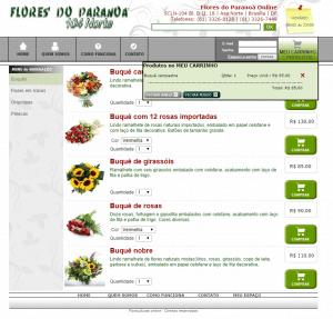 Loja virtual Flores do Paranoá