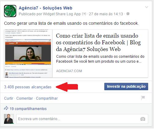 3408 pessoas alcançadas no facebook