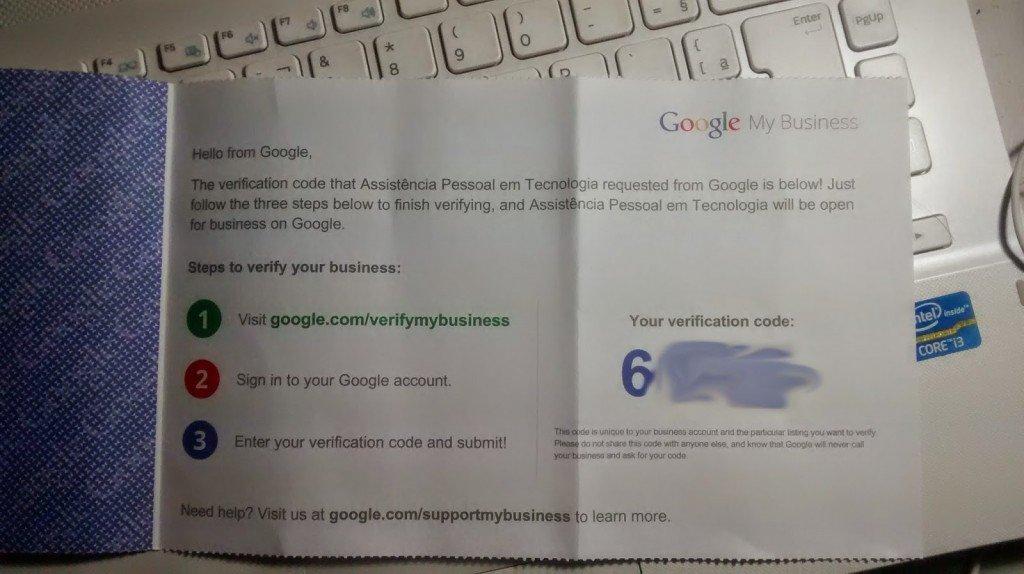 carta google meu negocio