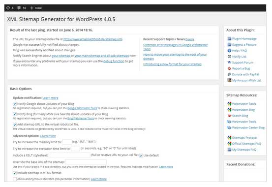 plugin-google-xml-sitemaps