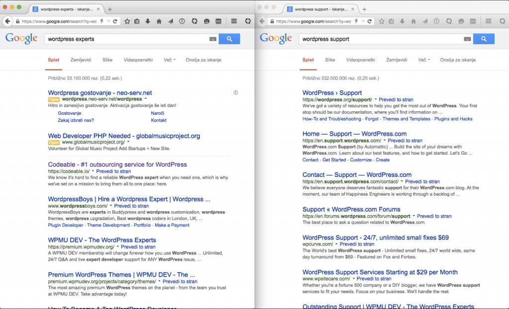 Codeable deixou no topo do Google para WordPress experts
