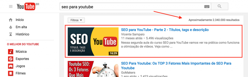 Curso de SEO Online no youtube 3