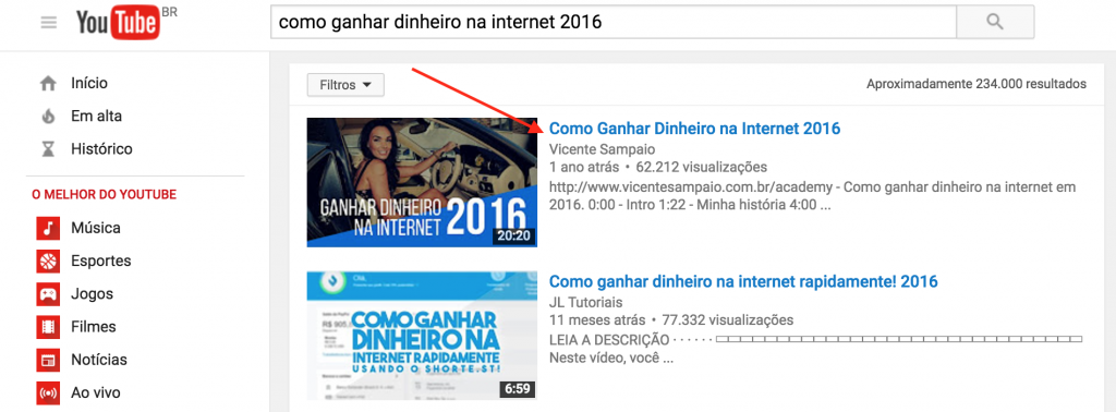 Curso de SEO Online no youtube 2